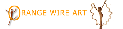 Cart - Orange Wire Art