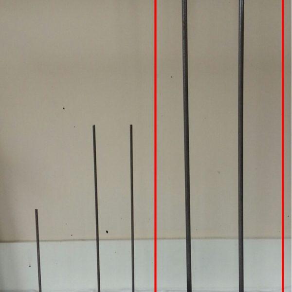 79 cm tall 2 standing rod base plate 20 x 20